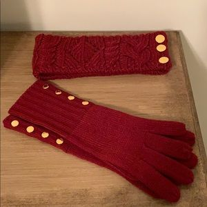 Michael Kors matching gloves and headband